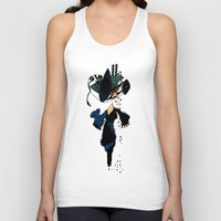 shopping Tank Tops featuring shopping queen by Marie Elke Gebhardt