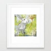rabbit Framed Art Prints featuring Rabbit by Melissa McGill