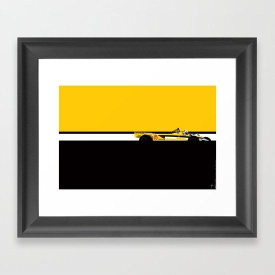 Alain Prost, Renault RE30, 1981 Framed Art Print