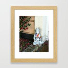 Street Buddha Framed Art Print