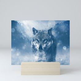 Winter Snow Wolf Animal Mystical Mini Art Print