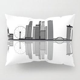 Singapore city skyine Pillow Sham