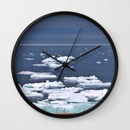 Icebergs on a Calm Sea Wall Clock