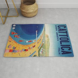 Cattolica 1920s Italy travel Rug