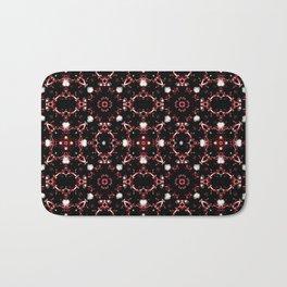 Futuristic Dark Pattern Bath Mat