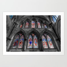 Rochester Cathedral Stained Glass Windows Art Print
