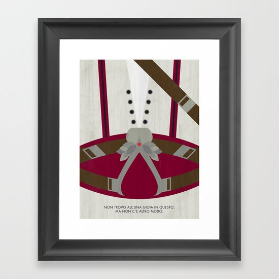 Video Game Poster: Assassin Framed Art Print