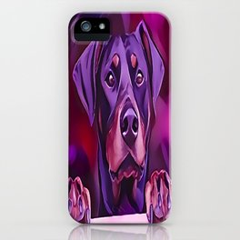 Doberman Looking Out The Window iPhone Case