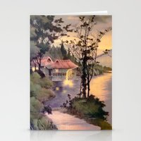"""asian Stationery Cards featuring """" ASIAN DREAM """" by James Dunlap"""