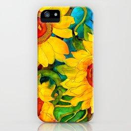 Golden Sunflowers iPhone Case