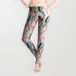Straight Geometry Ribbons 1 Leggings