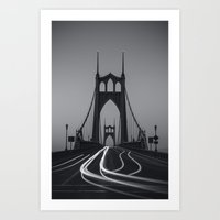 marc johns Art Prints featuring St. Johns Monotone by Cameron Booth
