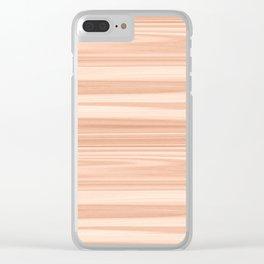Cedar Wood Texture Clear iPhone Case