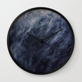 Blue Clouds, Blue Moon Wall Clock