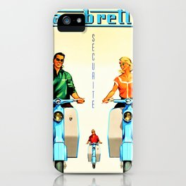 Vintage Lambretta Motor Scooter 'Security' Advertisement Poster iPhone Case