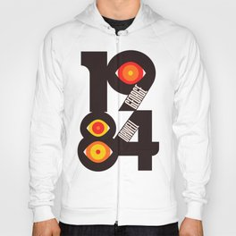 1984, George Orwell, book cover, illustration, cult books, Nineteen Eighty-Four art Hoody