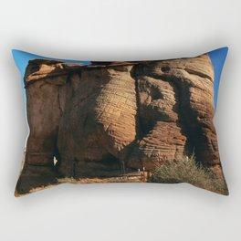 Massive, Majestic Rock Mountain in the Arizona Desert Rectangular Pillow