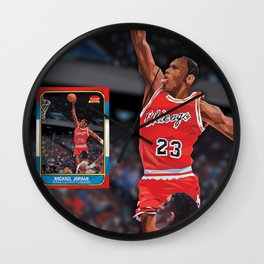 MJ rookie card remade with triangles Wall Clock