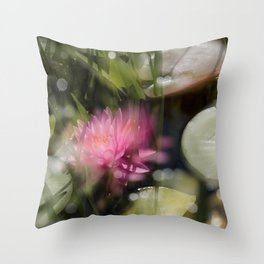 Magic Water Lily 3 Throw Pillow