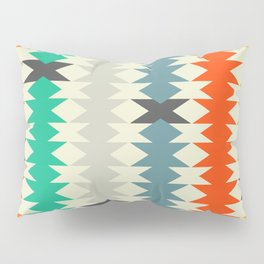 Colorful triangles and diamonds Pillow Sham