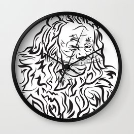 Face The Lion Wall Clock