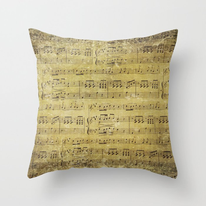 Music Is What Feelings Sound Like Throw Pillow By