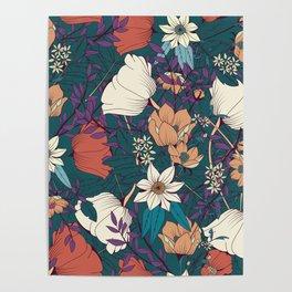 Botanical pattern 008 Poster
