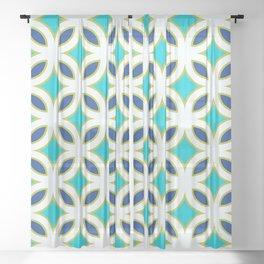 Trellis Teal Sheer Curtain
