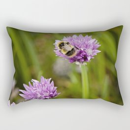 Bee on Chives Rectangular Pillow