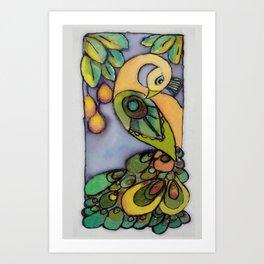 Mango Peacock Art Print