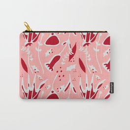 winter floral pink Carry-All Pouch