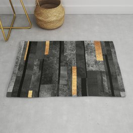 Urban Black & Gold Rug