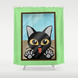 Licking Shower Curtain