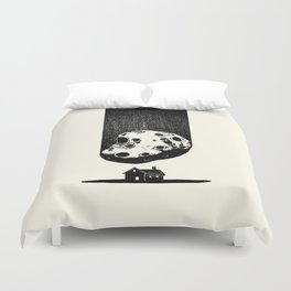Trouble At Home Duvet Cover