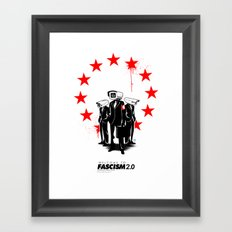 fascism 2.0 Framed Art Print