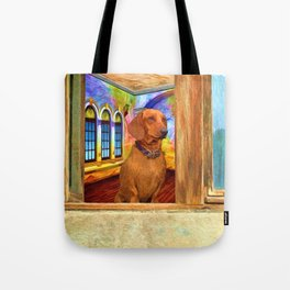 Dachshund Painting by Liane Wright Tote Bag