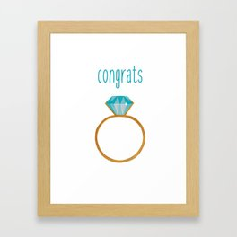 Congrats Ring Framed Art Print