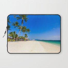 Beautiful white sand beach on Koh Mook island, Trang Province, Thailand Laptop Sleeve