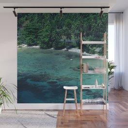 Tahiti White Sand Beach Romantic Getaway Wall Mural