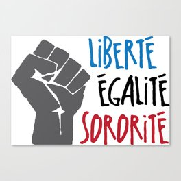 Liberte, Egalite, Sororite Canvas Print