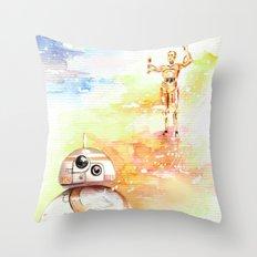 BB8 & C3PO Throw Pillow