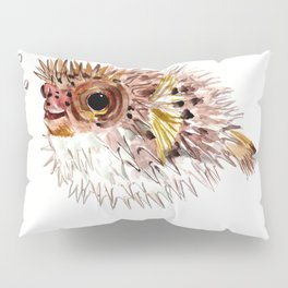 Little cute Fish, Puffer fish, cut fish art, coral aquarium fish Pillow Sham