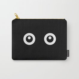 Scared Cartoon Eyes in the Dark Carry-All Pouch