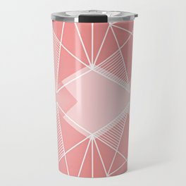 Two Hearts Beating As One - Coral Travel Mug