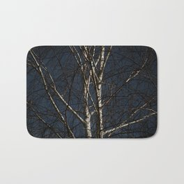 White Tree Bath Mat