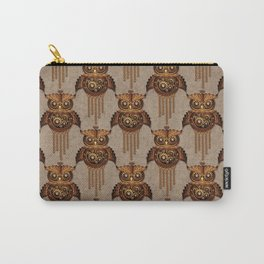 Steampunk Owl Vintage Style Carry-All Pouch