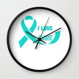 Ovarian Cancer Awareness Wall Clock