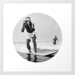 The Surfing Photographer Art Print