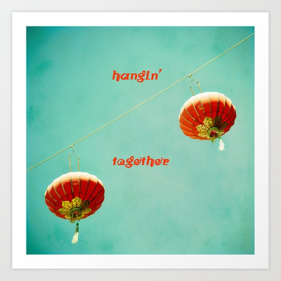 Hangin' Together Art Print