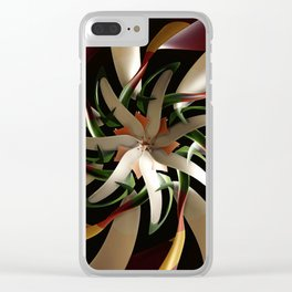 Tropical Flower Clear iPhone Case